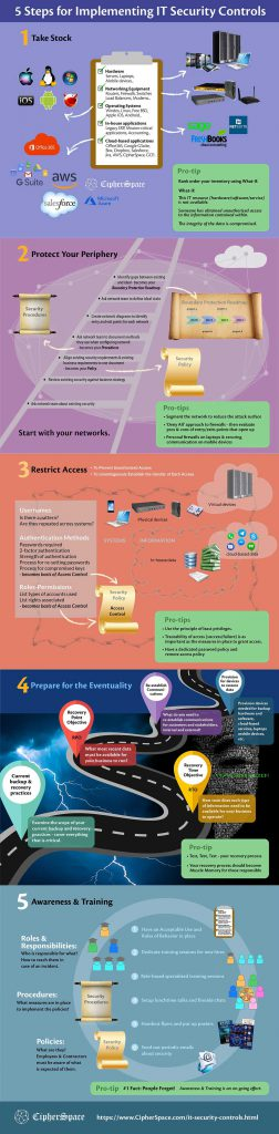 IT Security Controls Infographic